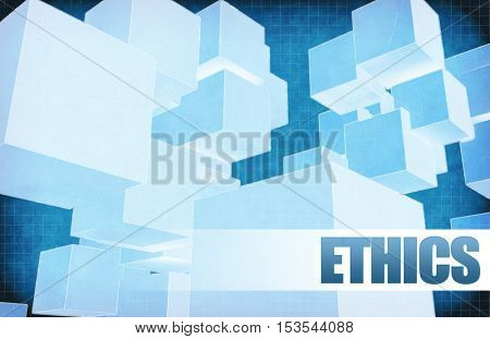 Ethics on Futuristic Abstract for Presentation Slide 3d Illustration Render