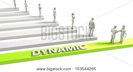 Dynamic Mindset for a Successful Business Concept 3d Illustration Render