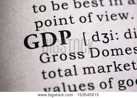 Fake Dictionary Dictionary definition of the word GDP. Gross domestic product