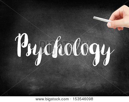 Psychology written on a blackboard