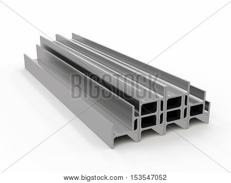 3D visualization of the beam on a white background