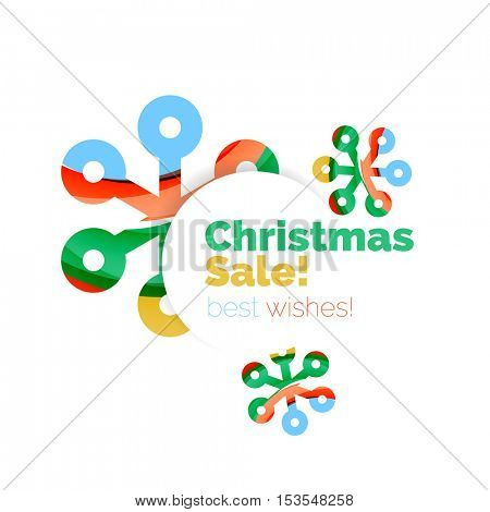 Christmas and New Year sale banner. Vector illustration