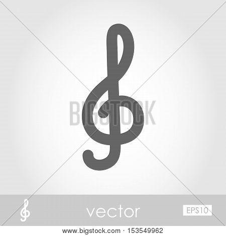 Treble clef icon vector illustration eps 10