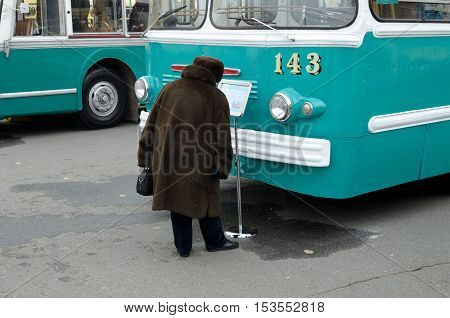 23.10.2016.Russia.Saint-Petersburg.23 October took place the celebration in honor of the 80th anniversary of the beginning of the trolleybus traffic in the city