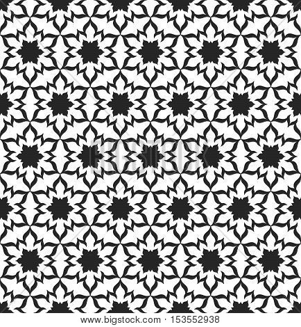 Black and White Seamless Pattern. Decorative Background. Vector Illustration.