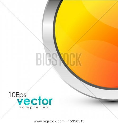 Half of metal sticker. Vector banner