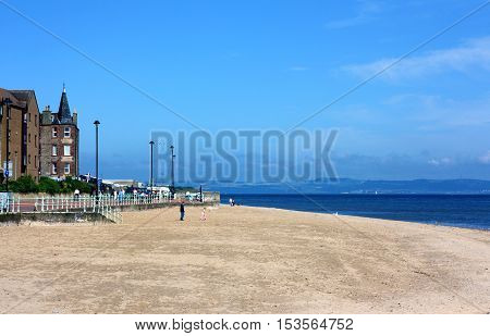 Portobello beach in Edinburgh, Scotland - 20.06.2014.