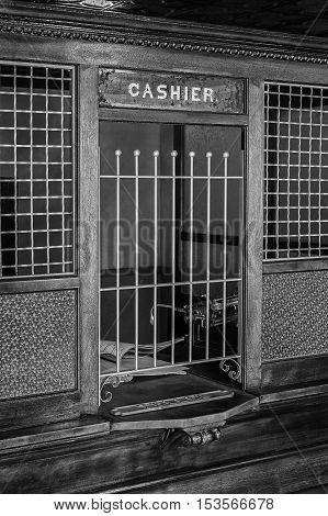 Teller's Window - Cashier window in old bank