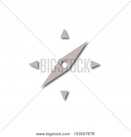 Simple Vector Compass icon on white background