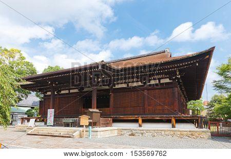 KYOTO JAPAN - JULY 28 2016: Hondo Main Hall (Senbon Shakado circa 1227) of Daihoon-ji Temple in Kyoto. National Treasure of Japan