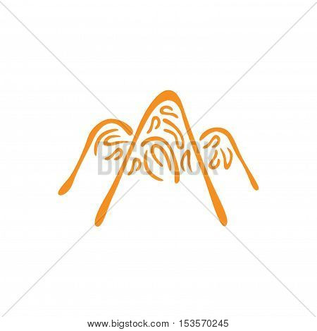 Vector abstract symbol of the mountain. Mountain peaks in ice abstract. eps jpg