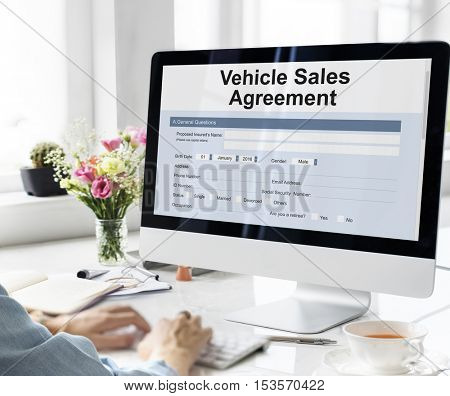 Vehicle Sales Agreement Form Concept