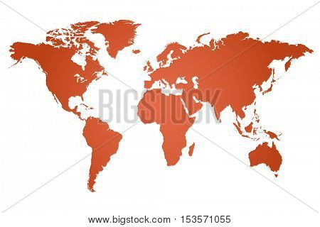 World map illustration isolated on a white background