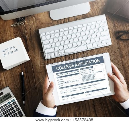 College Application Form Education Concept