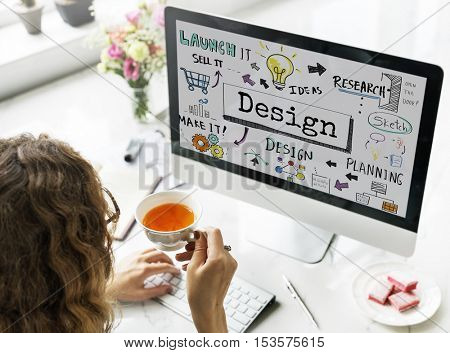 Design Creative Ideas Objective Planning Sketch Concept
