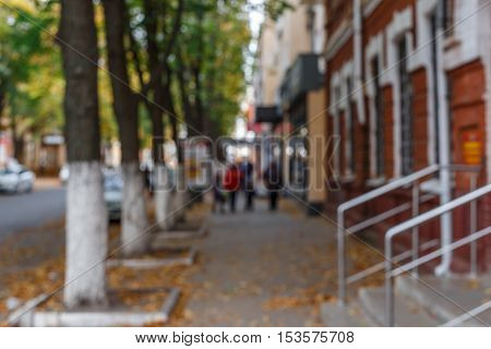 abstract blurred people on the street, background