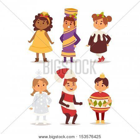Illustration of carnival costume kid