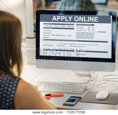 Apply Online Application Form Recruitment Concept