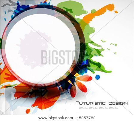 Colorful abstract composition. Vector background