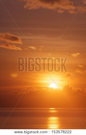 Perfect exotic sunset tropical beach vacation background