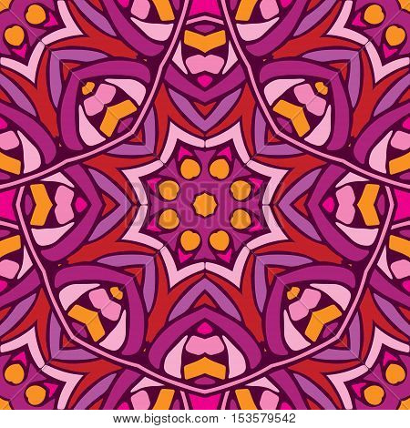abstract floral seamless pattern for fabric in retro style