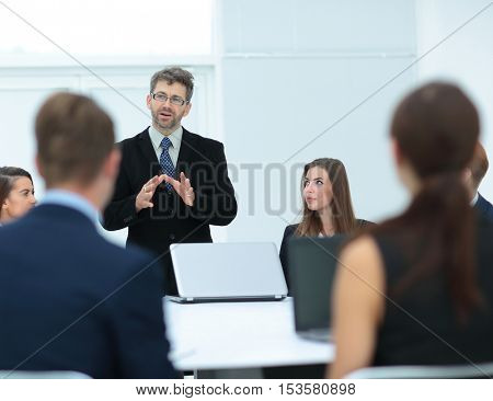 Business people in a conference room.