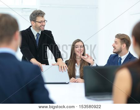 business people at a conference to discuss important issues