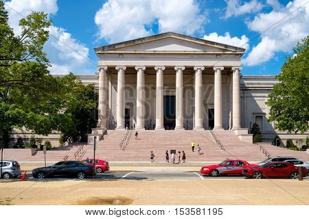 WASHINGTON D.C.,USA - AUGUST 16, 2016 : The National Gallery of Art at the National Mall in Washington D.C.
