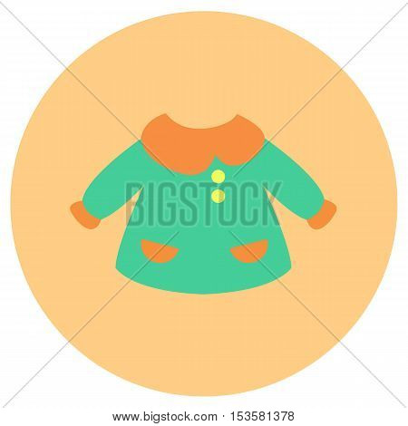Baby suit icon in trendy flat style isolated on grey background. Baby symbol for your design, logo, UI. Vector illustration, EPS10.