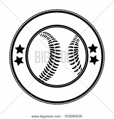 baseball emblem or label icon image vector illustration design