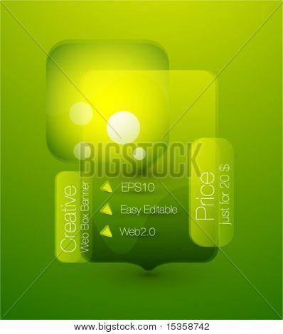 Green web box