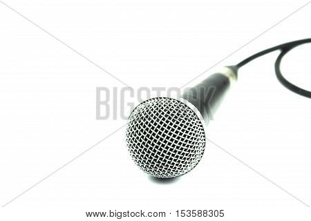 Analog microphone for meetings and conference on a white background.