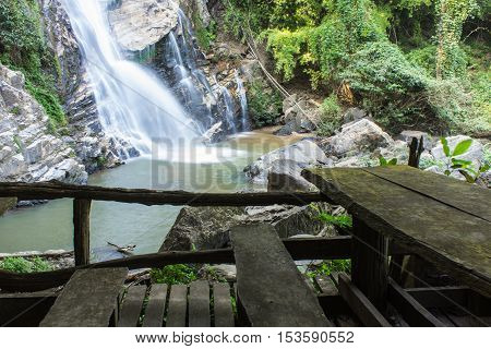 Mae Tia waterfall, Ob Lung national park in Chiangmai Thailand