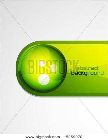 Vector green front page decoration