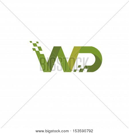 letter WD logo style,creative letter W and D, WD logo vector