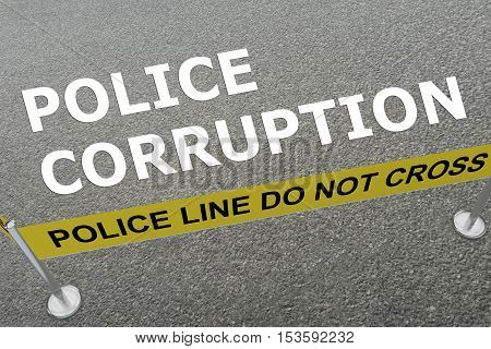 Police Corruption Concept