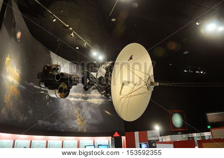 WASHINGTON DC - AUG 10, 2010: Voyager Model in National Air and Space Museum, Washington DC, USA.