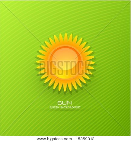 Vector sun background
