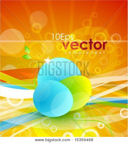 Vector nature symbol on sunny background