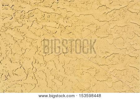 Yellow mortar as a wall texture image