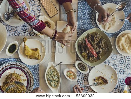 Indian Ethnicity Curry Meal Concept