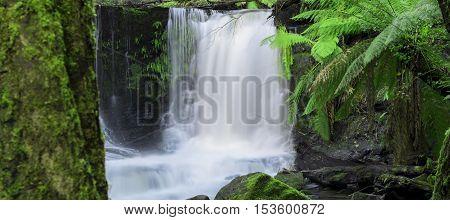 Horseshoe Falls In Mount Field National Park.