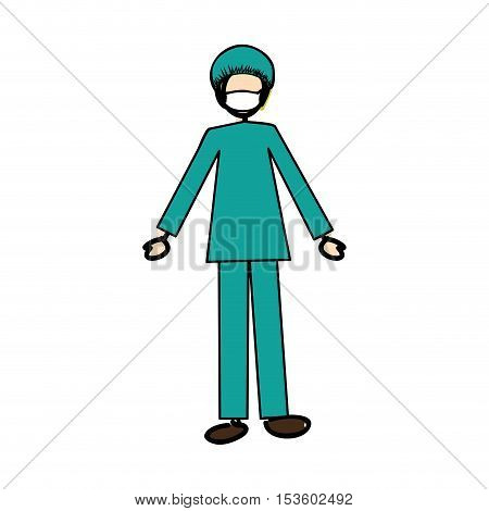 medical doctor physician icon image vector illustration design