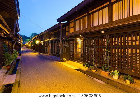 Old Town Takayama Kamisannomachi Street Night H