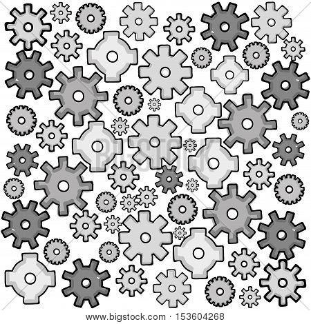 gear cartoon icon image vector illustration design