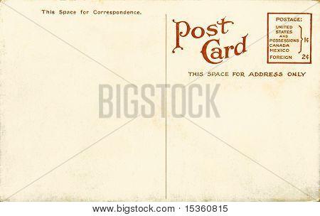 Postal en blanco Vintage
