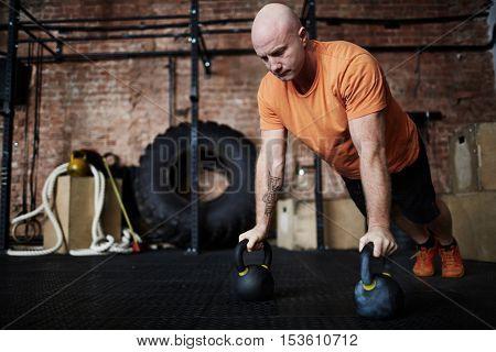 Athlete exercising