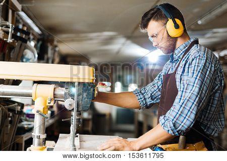 Drilling in workshop