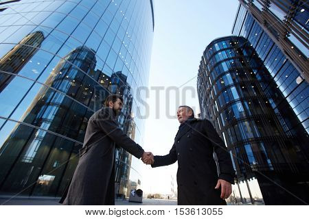 Handshake of entrepreneurs