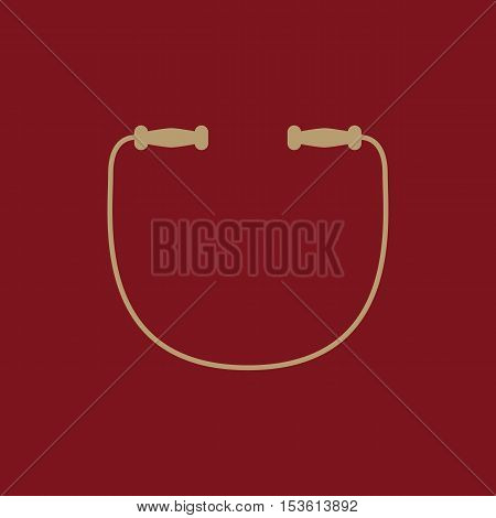 The skipping rope icon. Jumping-rope symbol. Flat Vector illustration